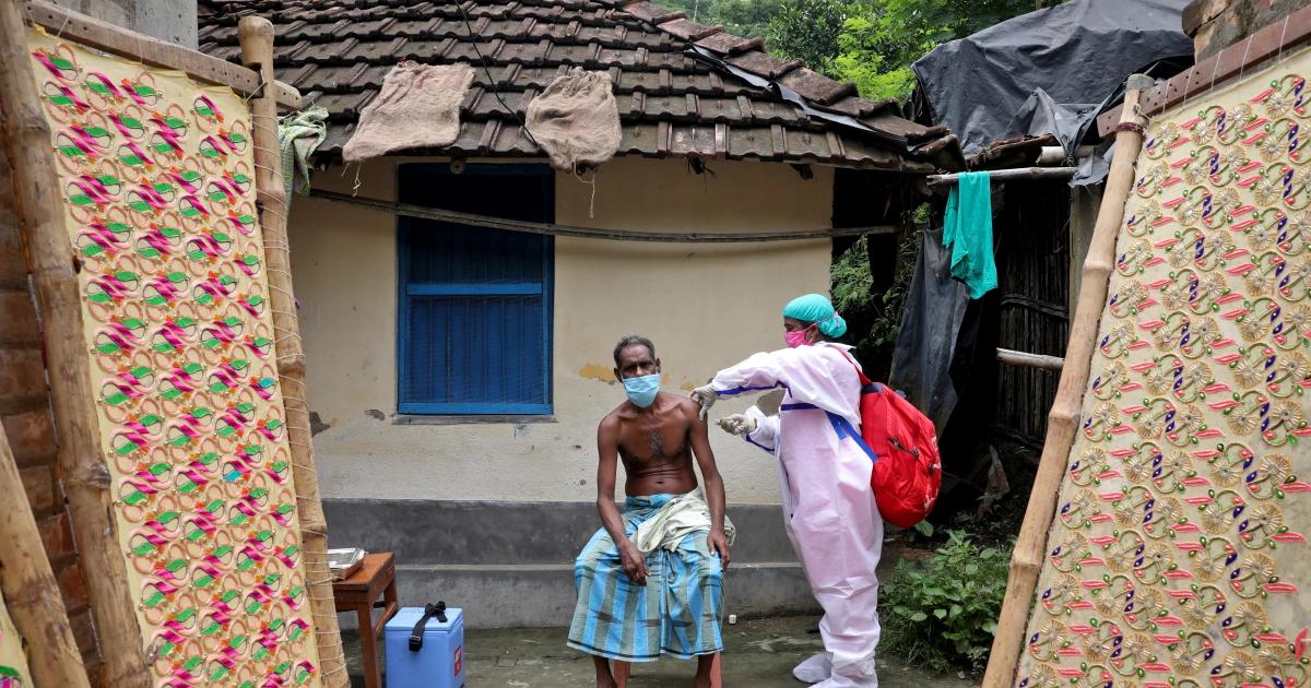 Villager receives vaccine